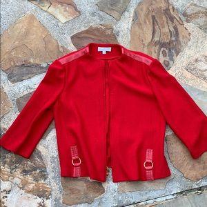 St. John jacket blazer red 16